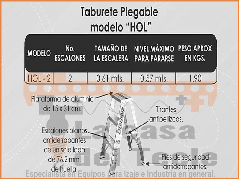 Taburete Plegable modelo HOL