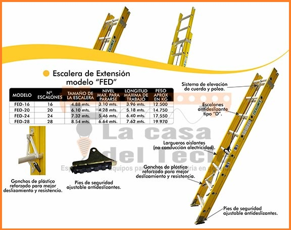 Escalera de extencion Modelo FED