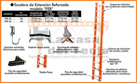 Escalera de Extension Reforzada Modelo FER