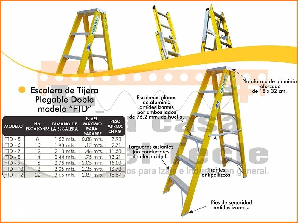 Escalera de Tijera Plegable Doble Modelo FTD