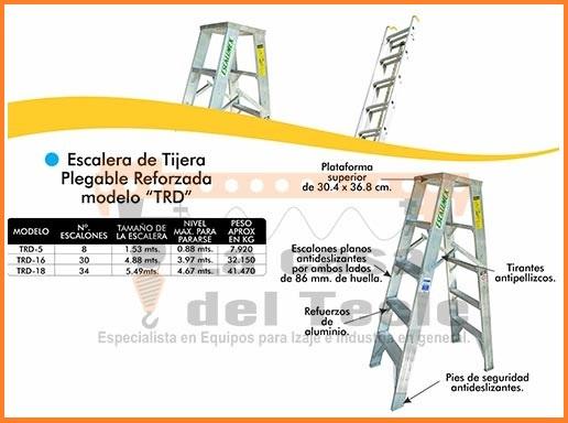 Escalera de Tijera Plegable Reforzada Modelo TRD
