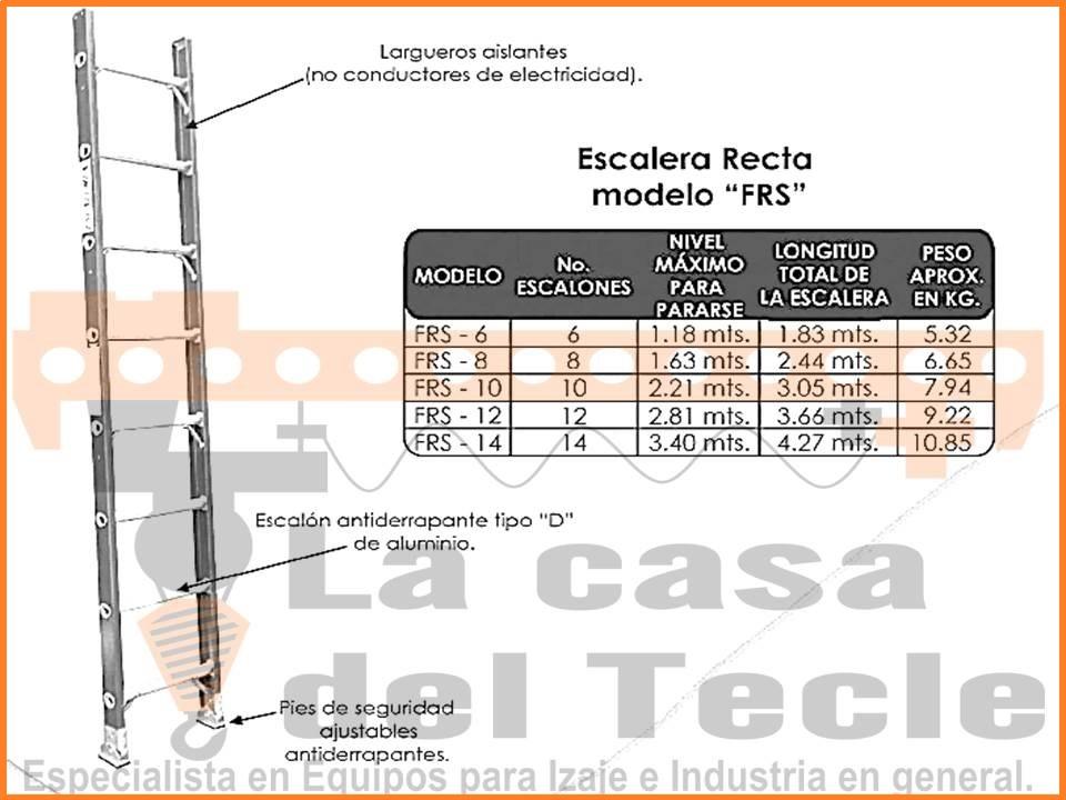 Escalera Recta Modelo FRS