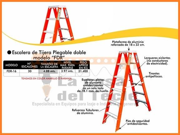 Escalera de Tijera Plegable Doble Modelo FDR