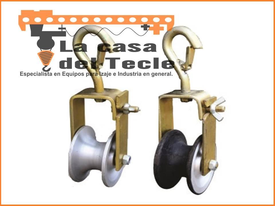 Poleas de Aluminio y Vulcanizado c/ rodaje para tendido